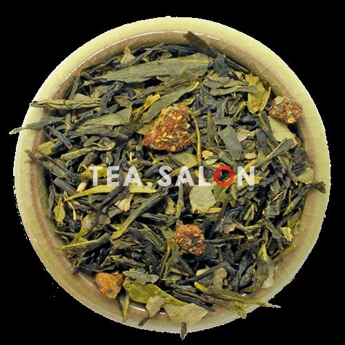 Зелёный чай с добавками «Земляника со сливками»