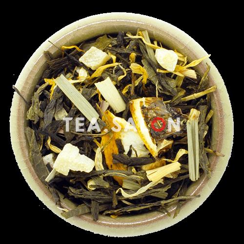 Зелёный чай с добавками «Спелый лимон»