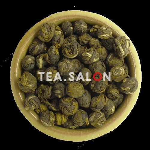 Ароматизированный зелёный чай «Жасминовая Жемчужина Дракона (кит. 茉莉龙珠) Моли Лун Чжу»