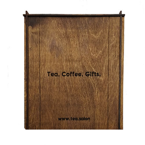 Деревянная коробка для подарков «Tea Salon»