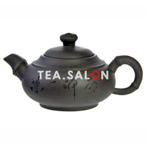 Купить Чайник глиняный «Black Oval» в интернет-магазине Tea.salon