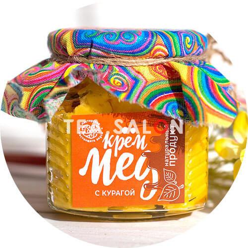 Купить Крем-мёд «С курагой» (300 г) в интернет-магазине Tea.salon