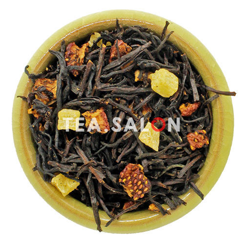 Чёрный чай с добавками «Клубника со сливками»