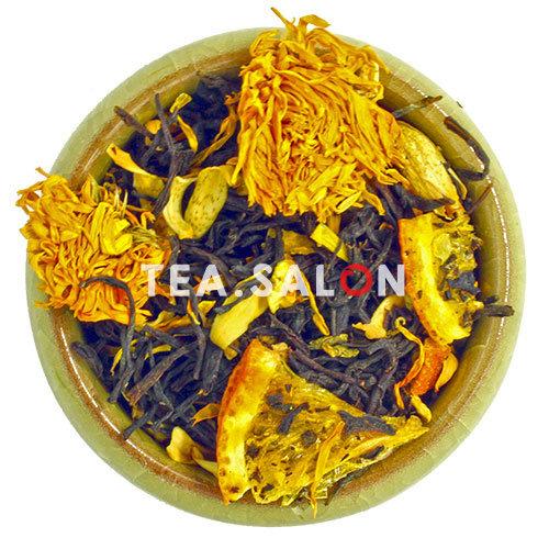 Купить Чёрный чай «Апельсин с Календулой и Имбирем» в интернет-магазине Tea.salon