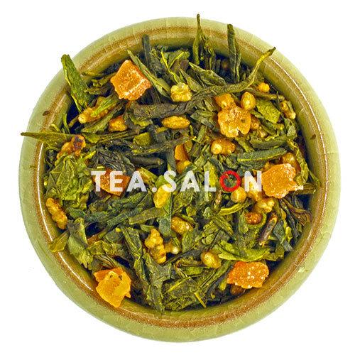 Зелёный чай с добавками «Манго с генмайчой и ароматом кокоса»