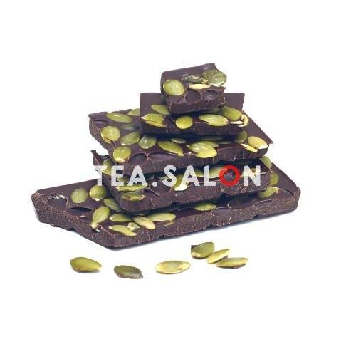 """Купить Шоколад на меду """"Горький с тыквенной семечкой"""" в интернет-магазине Tea.salon"""